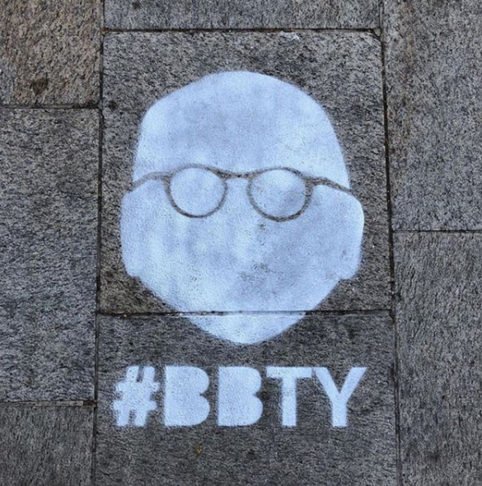 Het logo van de campagne #BBTY dook in het voorjaar overal op in de gemeente Rijssen-Holten.