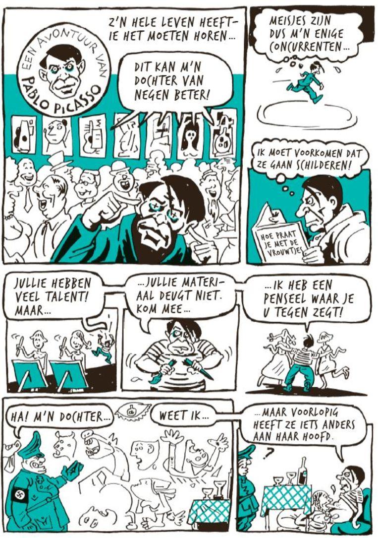 Willem neemt Pablo Picasso op de korrel. Beeld Willem