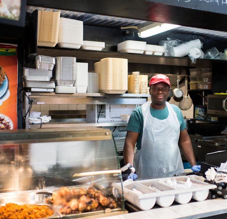 De Ghanese tent in World of Food Beeld Mats Van Soolingen