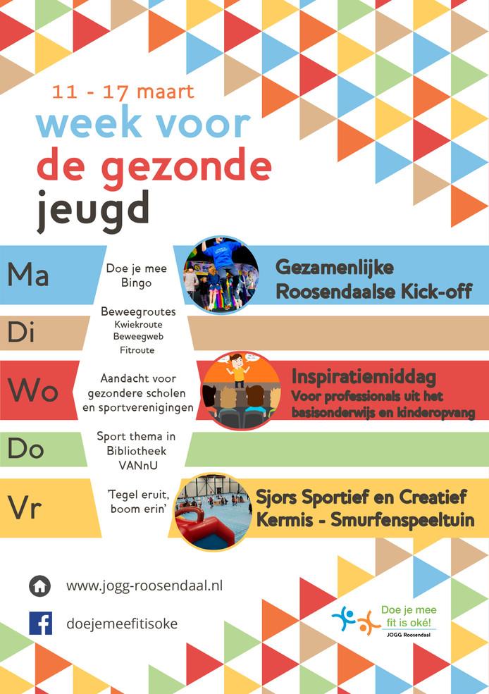 Kalender Roosendaalse Week voor de Gezonde Jeugd