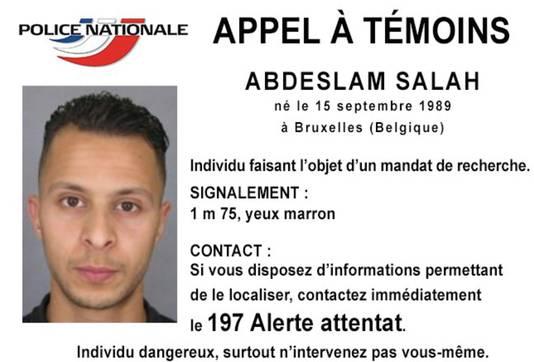 Voortvluchtige verdachte Abdeslam Salah.