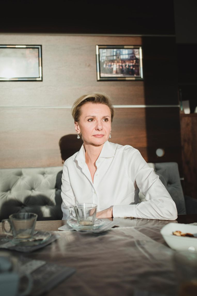 Marzena Mydlarz, regiodirecteur van een schoonmaakbedrijf. Beeld Fabian Weiss