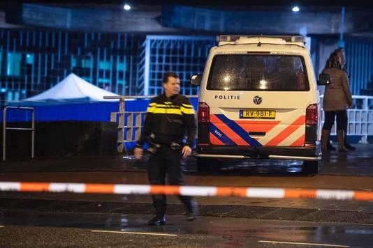 Hulpdiensten bij de Nederlandsche Bank na de schietpartij
