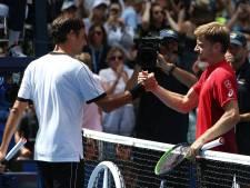 """Goffin en mode revanche contre Federer: """"Je lui ai donné le match à l'US Open"""""""