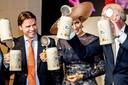 Koningin Máxima bezocht de brouwerij in Lieshout vanwege het 300-jarige bestaan.