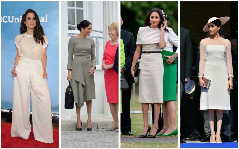 Meghan Markle zou te veel beige dragen volgens de Britse pers