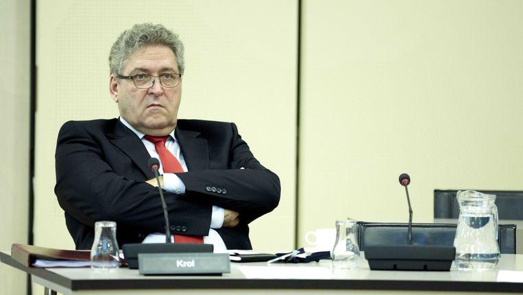 50Plus-Kamerlid Henk Krol in de Tweede Kamer. Beeld anp