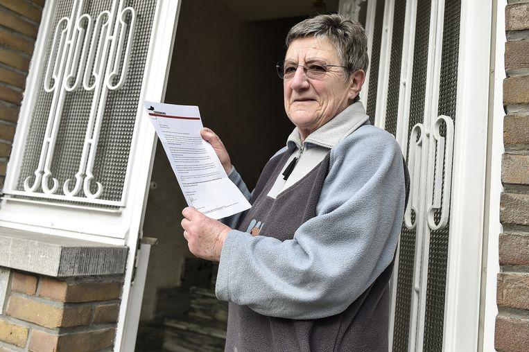 Ook Simonne De Wilde kreeg een brief in de bus.