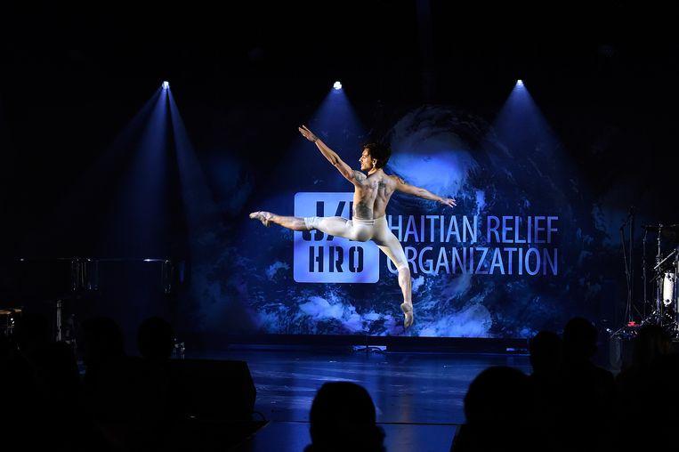 Sergei Polunin tijdens een performance in Hollywood. Beeld Getty Images