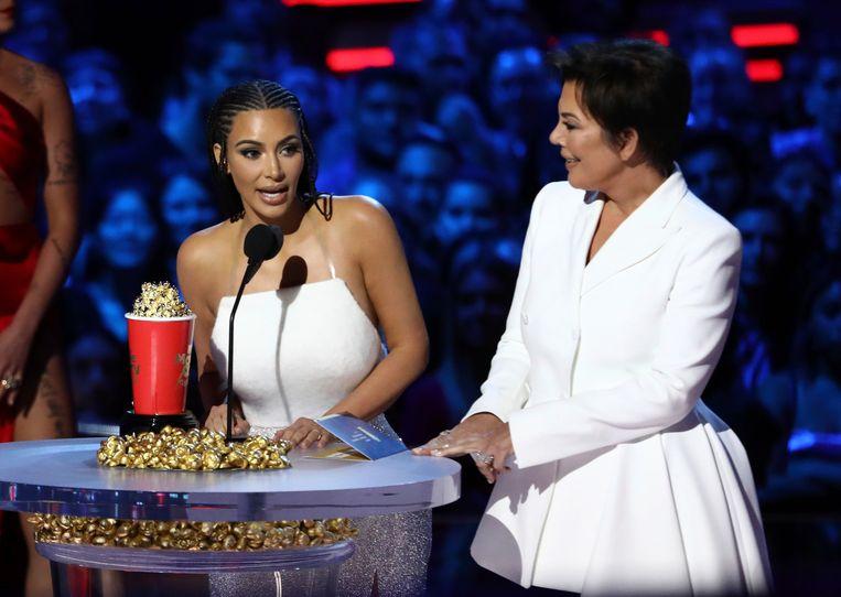 Kim Kardashian en haar moeder  Kris Jenner.