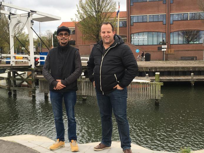 Paco van de Velde (links) en Mark de Lange willen met Wij Harderwijk-Hierden meedoen aan de raadsverkiezingen in Harderwijk.