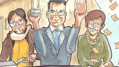 N-VA vat zes jaar bestuur samen in cartoon