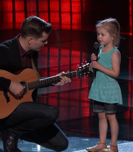 Vader en 5-jarige dochter treden samen op in The Voice