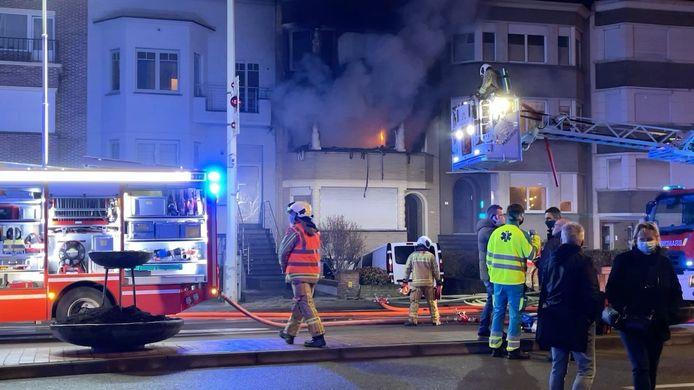 De brand in de Koning Albert I-Laan in Blankenberge.