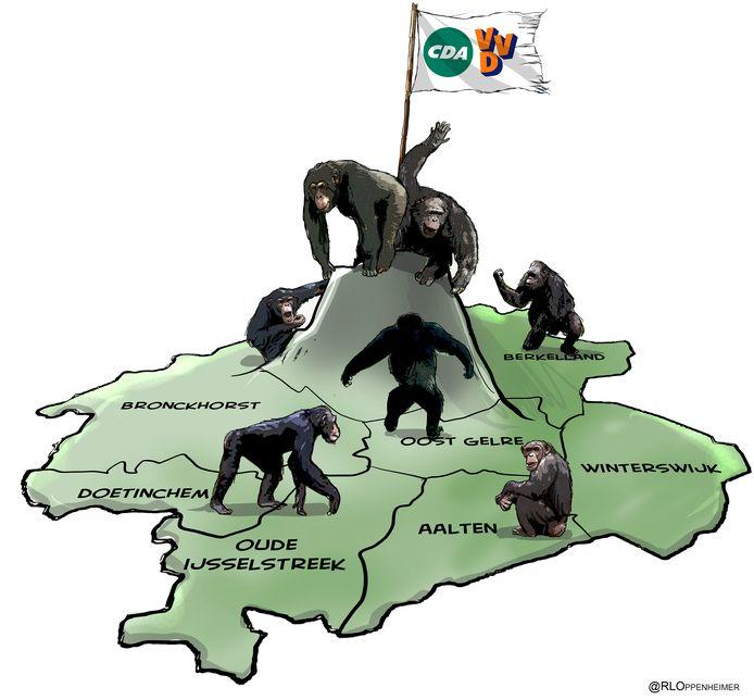 Lokale partijen rond de Achterhoekse apenrots.