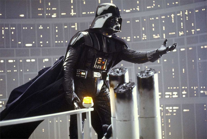 'I am your father!' Darth Vader op zijn best in The Empire Strikes Back.