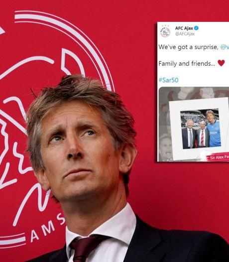 Del Piero tot Ferdinand en Van Basten tot Ferguson: voetballegendes feliciteren Van der Sar