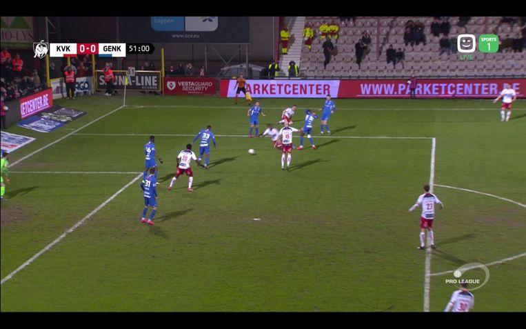 KV Kortrijk - Racing Genk - Mboyo valt