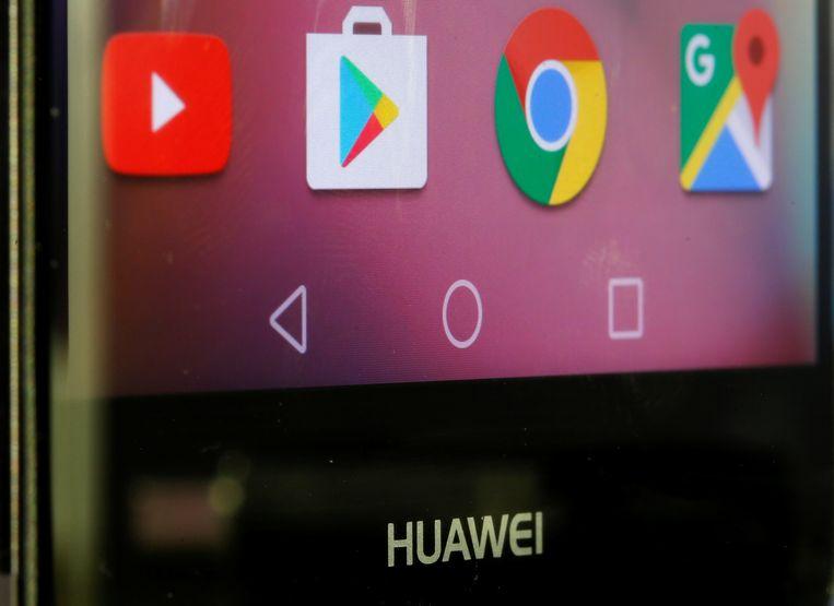 Apps van Google op een smartphone van Huawei.