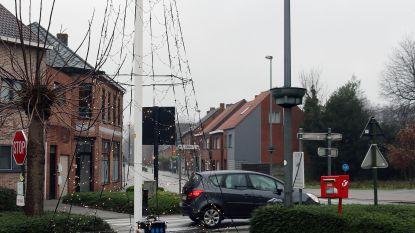 Kerstverlichting staat... op parkeerplaats voor mindervaliden