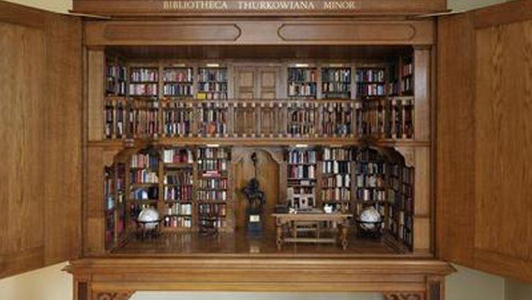Miniatuurbibliotheek. Beeld Meermanno.