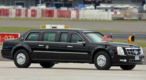 'The Beast' reed op 5 juni 2014 ook even op Belgische wegen rond, toen Barack Obama een bezoekje bracht aan België.