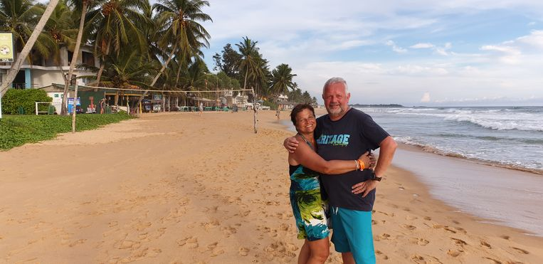 Bieke Santermans en Marc Aerts in Sri Lanka.