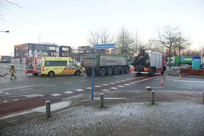 De ambulance kwam ter plaatse.