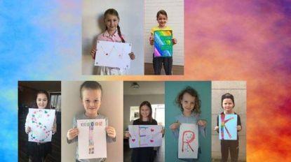 Leerlingen basisschool De Rekke maken digitale collage 'Samen zijn we sterk'