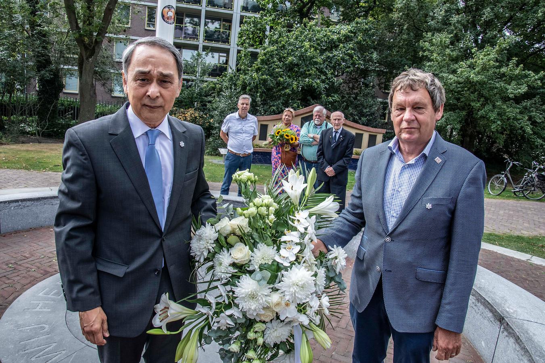 Ook in Tilburg werd vandaag stilgestaan bij de 75ste herdenking van de bevrijding van Nederlands-Indië.
