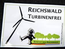 Windmolens Reichswald van de baan