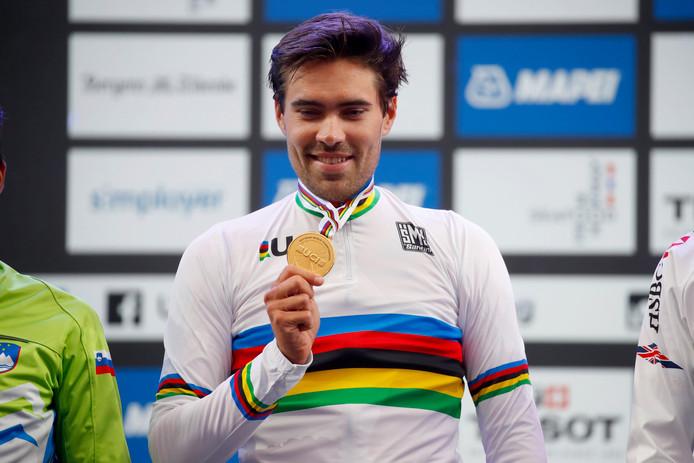 Tom Dumoulin na zijn wereldtitel.