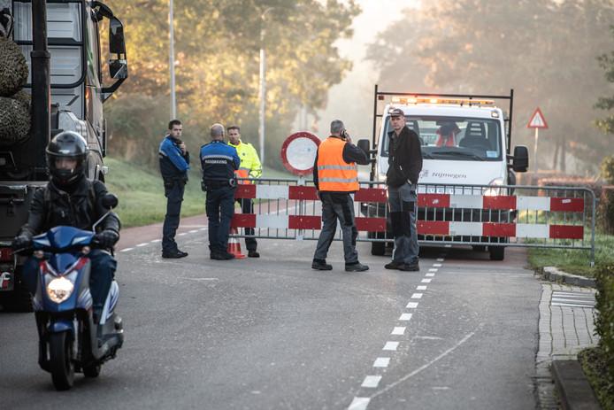 Een vrachtwagentje met drugsafval laat tussen Heumen en de wijk Weezenhof in Nijmegen een spoor van 9 kilometer achter.