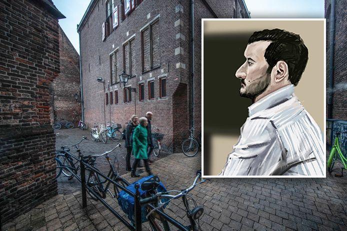 Het incident vond plaats in een van de steegjes vlak achter het Bethlehemkerkplein in Zwolle. Younes uit Lelystad werd hier in coma geslagen door Levi el A.