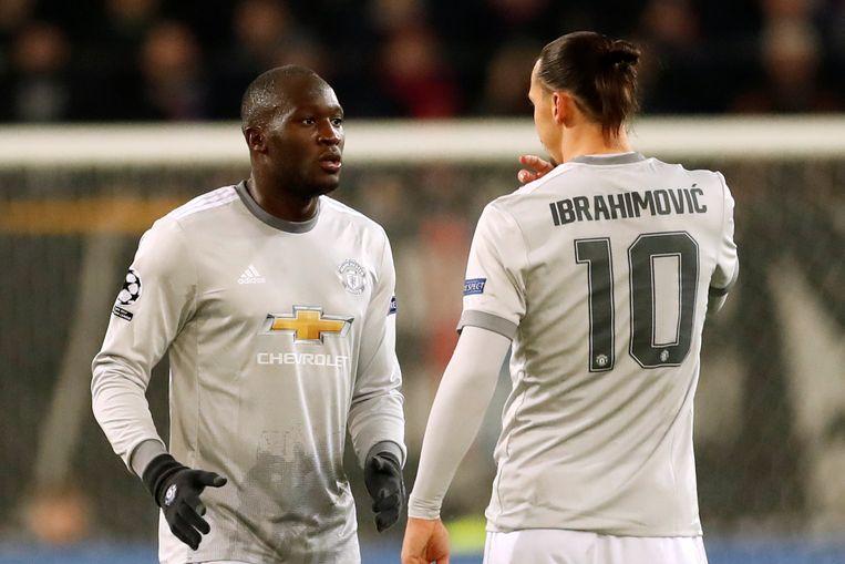 Lukaku en Zlatan als ploegmaats bij Manchester United.