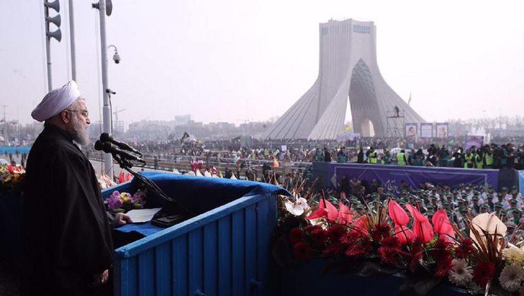 Herdenking van de Iraanse Revolutie in Teheran, 10 feb. 2017 Beeld afp