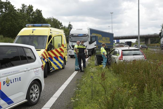 Ongeval op A58 bij Ulvenhout.