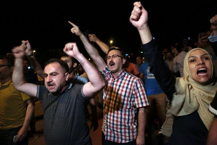 Protesten in Ankara. Beeld ap