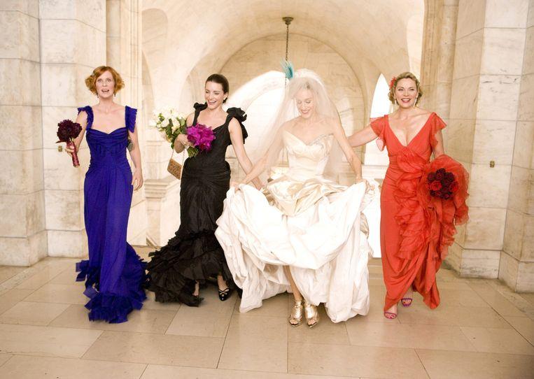 Cynthia Nixon, Kristin Davis, Sarah Jessica Parker, Kim Cattrall in 'Sex and the City: The Movie'