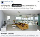Nepadvertentie. Met van internet geplukte foto's wordt de woning van Van Stigt te huur aangeboden.