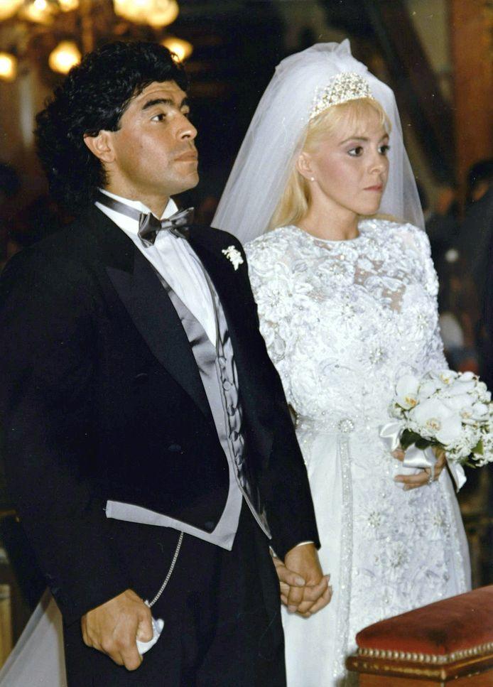 Diego Maradona en Claudia Villafane.