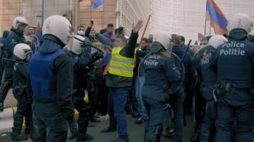 Heftig! 'Flikken BXL' achter de schermen tijdens betoging