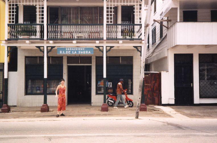 De drogisterij van de familie in Paramaribo.  Beeld privécollectie