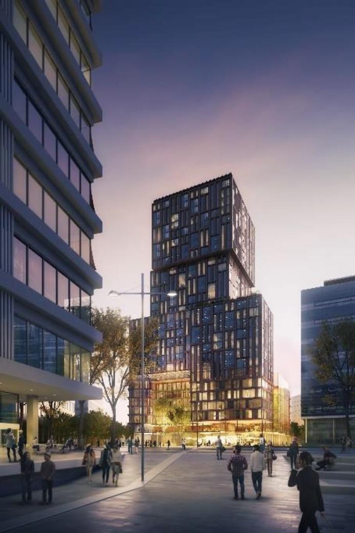 De nieuwe Galaxy Tower die bij De Jaarbeurs moet verrijzen.