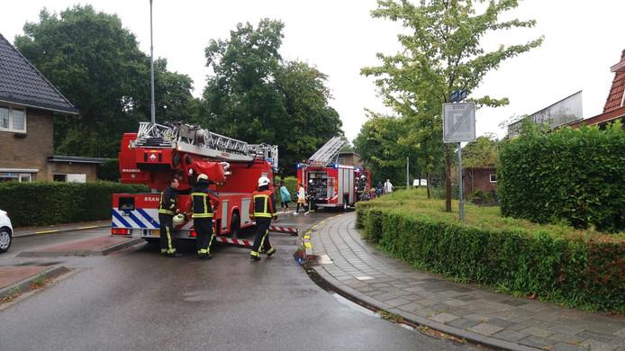 Brandweer in de Seissingel bij schoorsteenbrand.