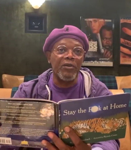 """Stay The F**k at Home"", la lecture confinement de Samuel L. Jackson"