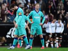 Frenkie en Barça krijgen dreun van Valencia in titelrace