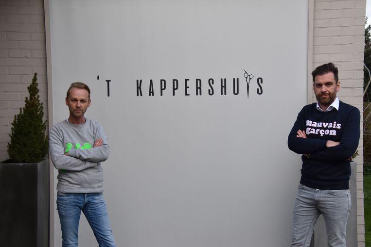 Jonathan Debunderie en Jurgen Ruyskensveld van 't Kappershuys sluiten hun zaak alvast tijdelijk.