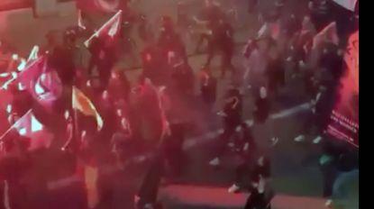 VIDEO: 300 manifestanten betogen door Leuvense straten tegen Turkse invasie in Syrië