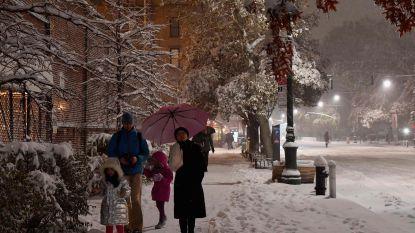 New York bedekt met eerste laagje sneeuw